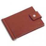 Кожаный зажим для денег Standart (brown)